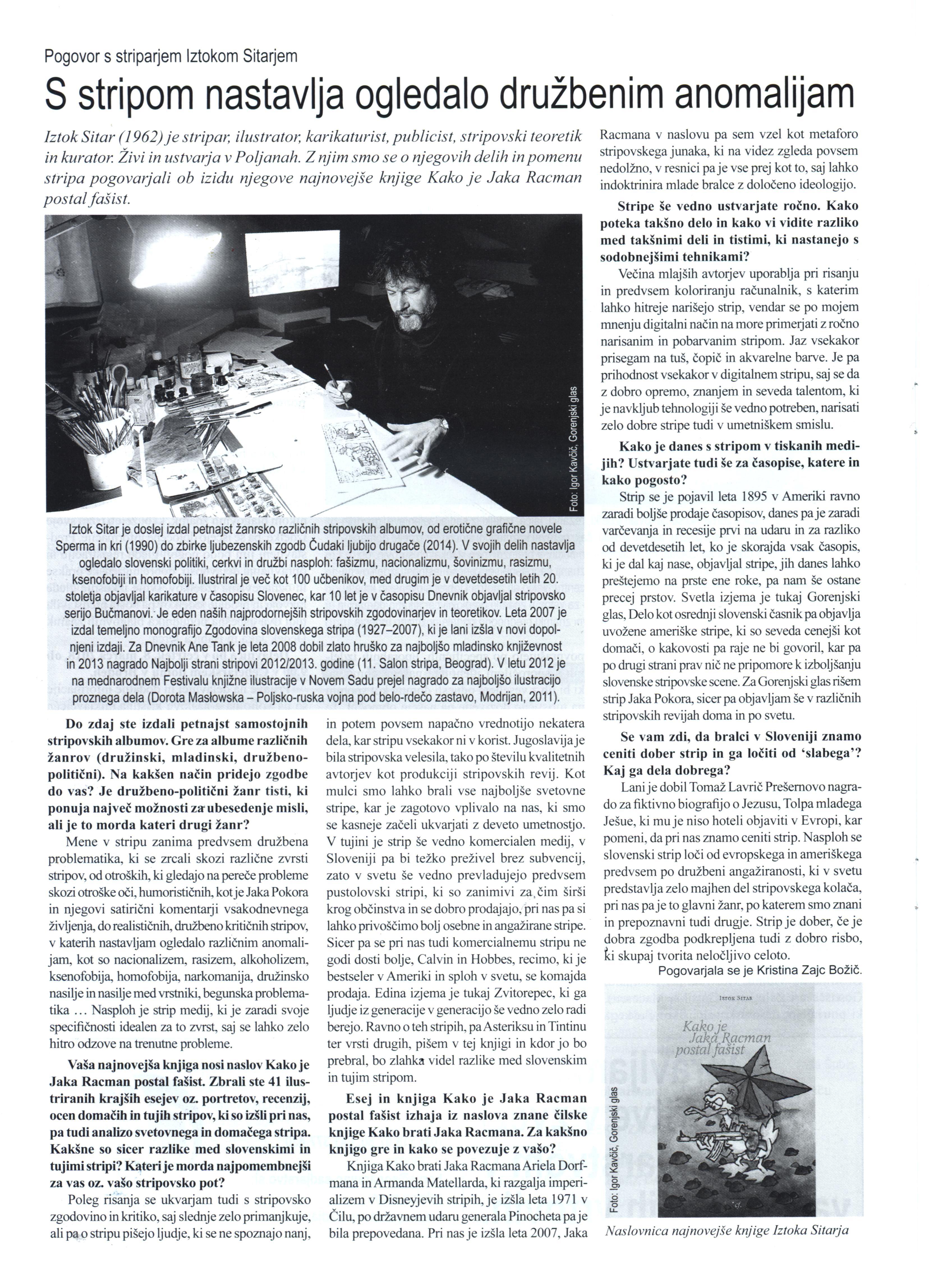 Iztok Sitar, Kako je Jaka Racman postal fašist